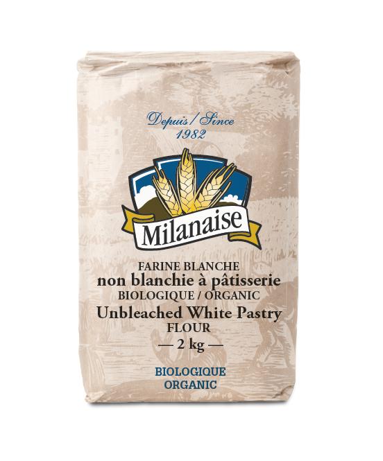 Farine blanche non blanchie à pâtisserie biologique