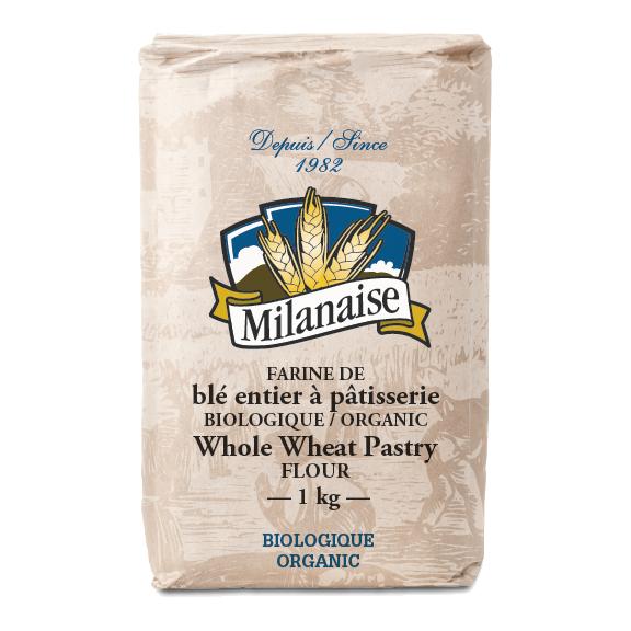 Farine de blé entier à pâtisserie biologique