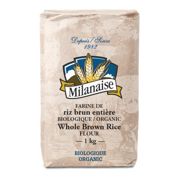 Farine de riz brun entière biologique