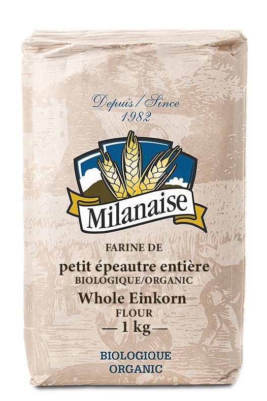 Organic whole einkorn flour Milanaise bag