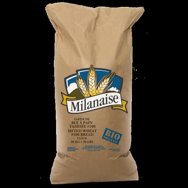 Farine de blé à pain tamisée #100 biologique
