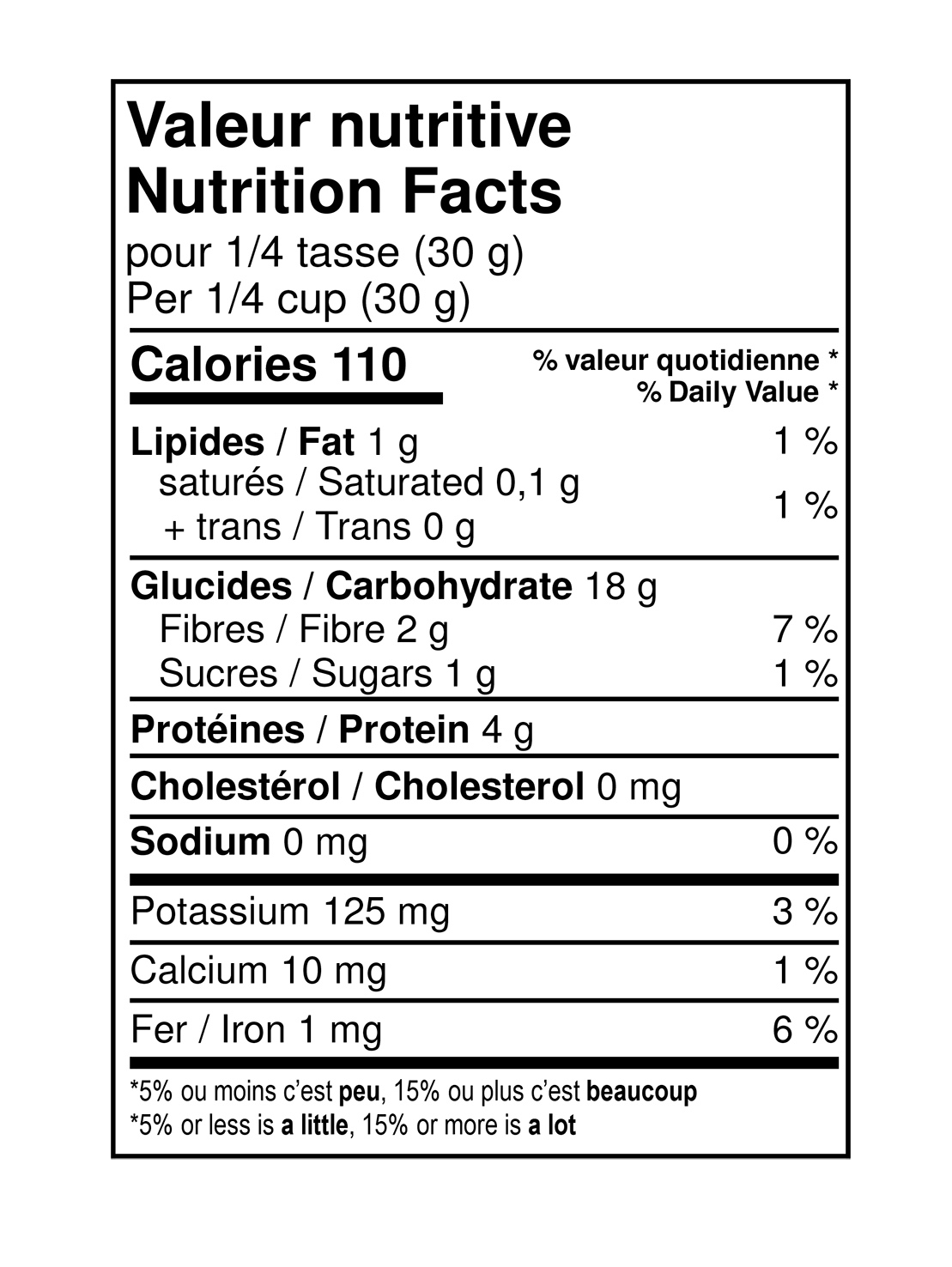 Valeurs nutritives - Farine de petit épeautre entière biologique