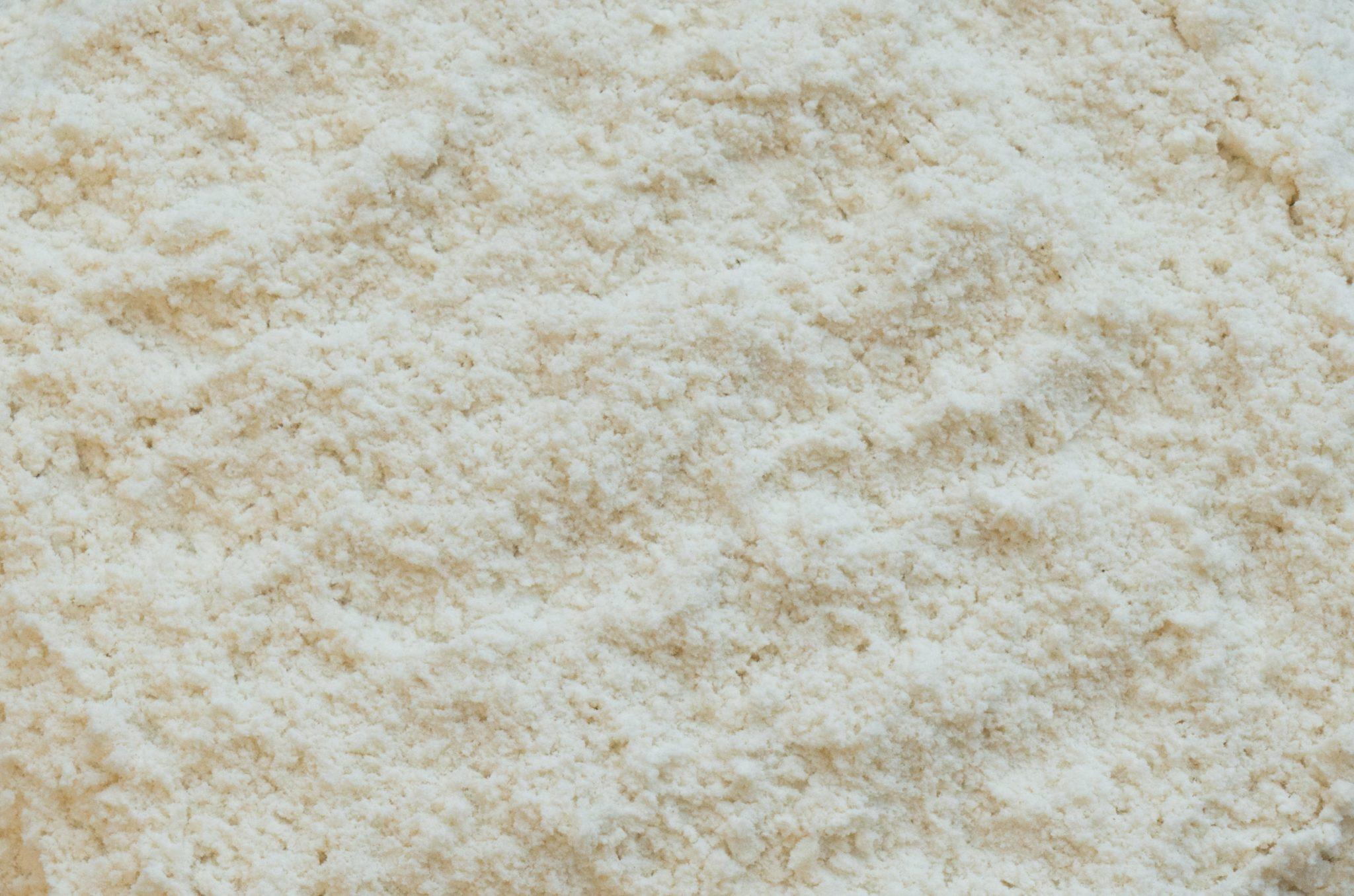 farine blanche non blanchie