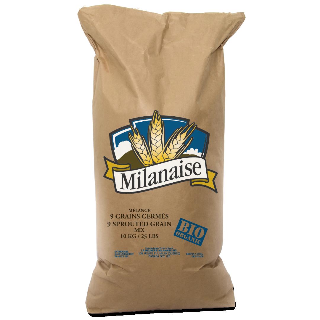 Mélange 9 grains germés biologique