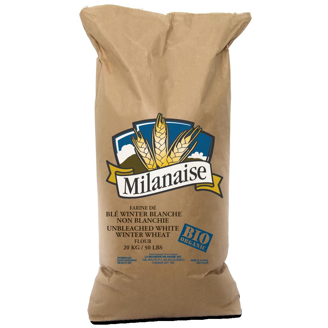 Farine de blé Winter blanche non blanchie biologique