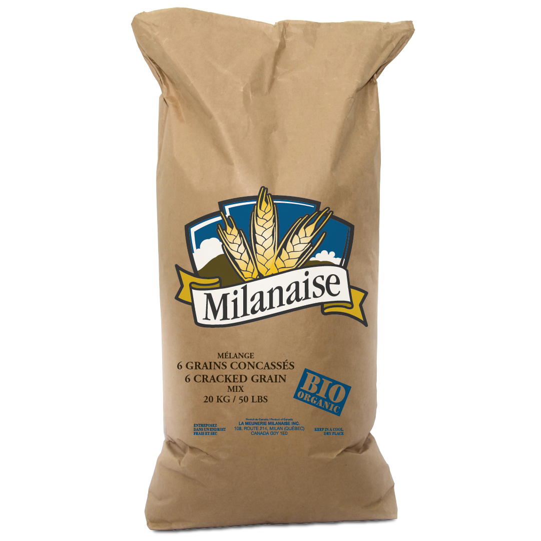 Mélange 6 grains concassés biologique