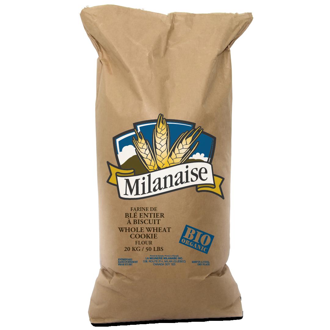 Farine de blé entier à biscuit biologique