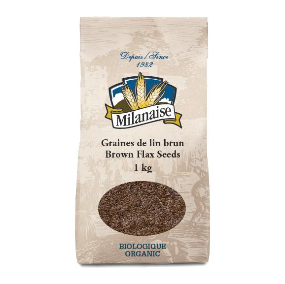 Graines de lin brun biologiques