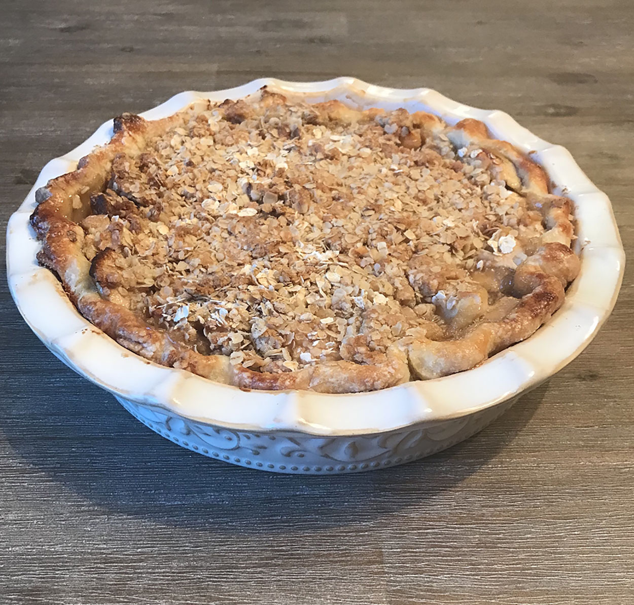 Apple pie and cream sugar crumble style