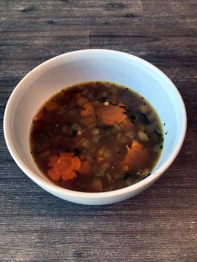 soupe aux bouillon de dinde et à l'orge mondée biologique