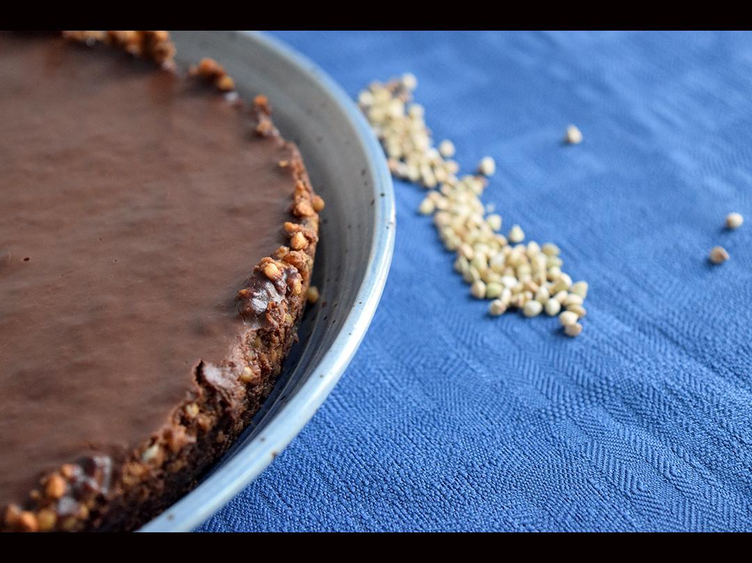 Tarte à la ganache au chocolat et au sarrasin