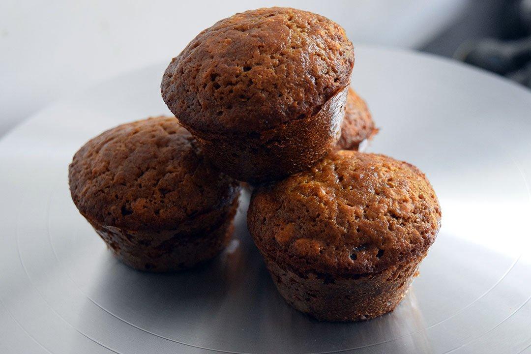 Muffins pommes & avoine